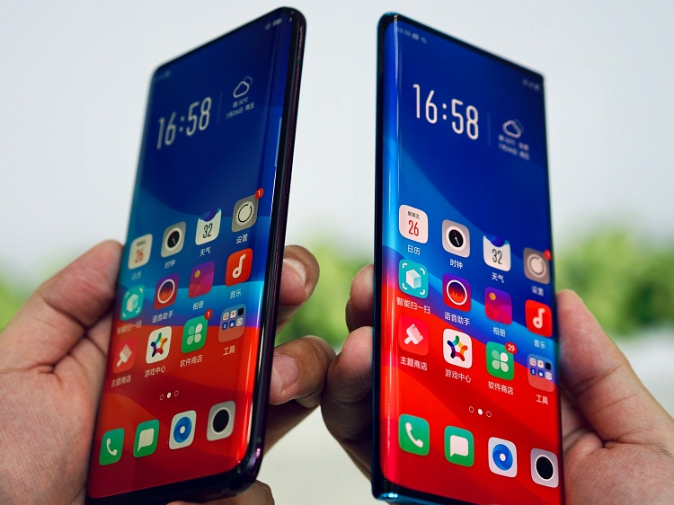 """OPPO showcases """"Waterfall Screen""""technology, exploring ultimate design aesthetics and visual experience"""
